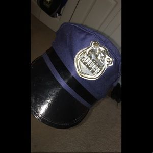 Halloween costume police officer hat.